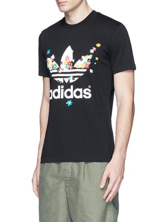 Front View - Click To Enlarge - adidas By Pharrell Williams - Floral trefoil logo print T-shirt