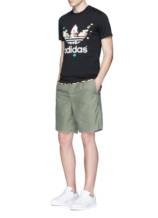 Figure View - Click To Enlarge - adidas By Pharrell Williams - Floral trefoil logo print T-shirt
