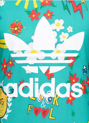 Detail View - Click To Enlarge - adidas By Pharrell Williams - 'Doodle' print Climalite® jersey T-shirt
