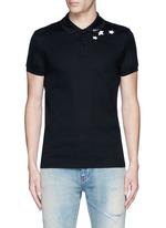 Star print cotton piqué polo shirt