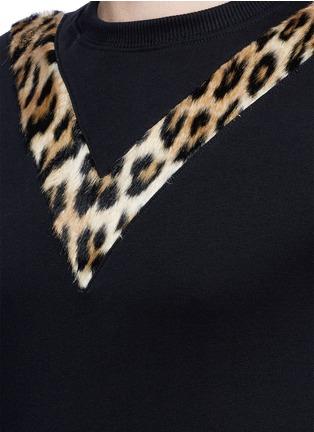 Detail View - Click To Enlarge - SAINT LAURENT - Leopard print insert sweatshirt