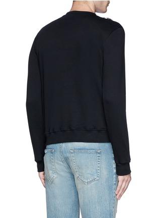 Back View - Click To Enlarge - SAINT LAURENT - Leopard print insert sweatshirt