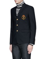 Lion crest wool club jacket