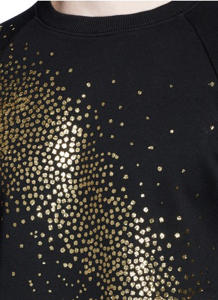细节 - 点击放大 - SAINT LAURENT - 亮片拼贴装饰纯棉卫衣
