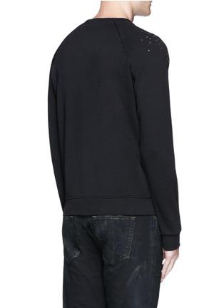 背面 - 点击放大 - SAINT LAURENT - 亮片拼贴装饰纯棉卫衣