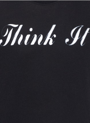 Detail View - Click To Enlarge - Saint Laurent - 'Think It' print cotton T-shirt