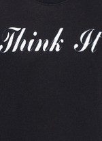 'Think It' print cotton T-shirt