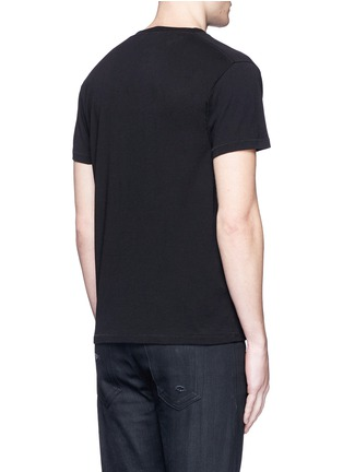 Back View - Click To Enlarge - Saint Laurent - 'Think It' print cotton T-shirt