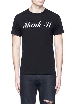 Main View - Click To Enlarge - Saint Laurent - 'Think It' print cotton T-shirt