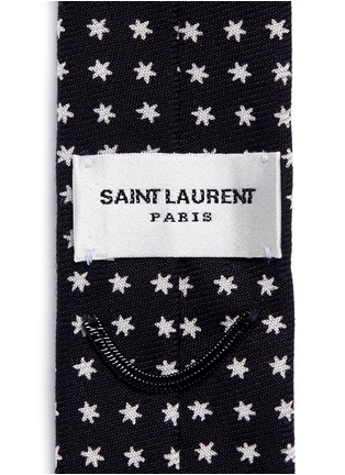 Detail View - Click To Enlarge - Saint Laurent - Star print skinny tie