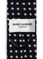 Star print skinny tie