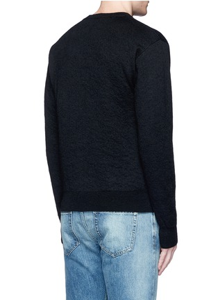 Back View - Click To Enlarge - Saint Laurent - Tiger head jacquard Mohair sweater