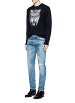 Tiger head jacquard Mohair sweater