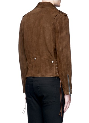 Back View - Click To Enlarge - Saint Laurent - Fringed suede motorcycle jacket