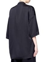 Drop shoulder satin tunic shirt