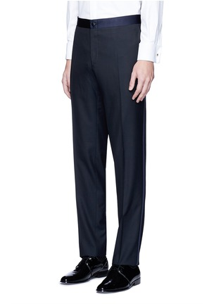 Detail View - Click To Enlarge - Canali - 'Venezia' contrast trim wool tuxedo suit