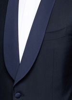 'Venezia' contrast trim wool tuxedo suit