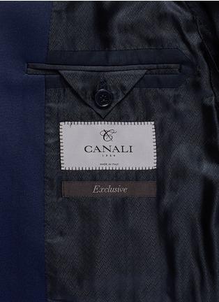 - Canali - 'Venezia' contrast trim wool tuxedo suit