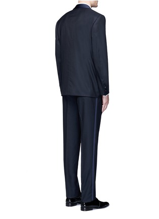 Back View - Click To Enlarge - Canali - 'Venezia' contrast trim wool tuxedo suit