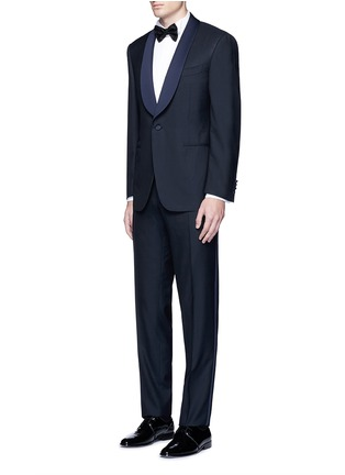 Figure View - Click To Enlarge - Canali - 'Venezia' contrast trim wool tuxedo suit