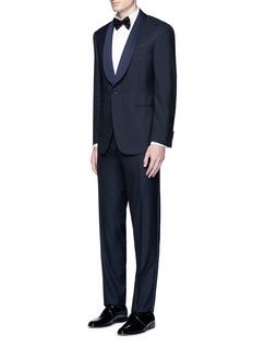 Canali'Venezia' contrast trim wool tuxedo suit