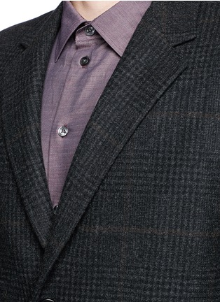 Detail View - Click To Enlarge - Canali - Glen plaid wool coat