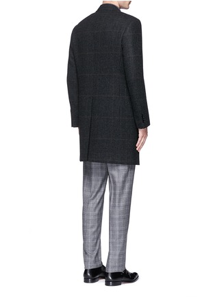 Back View - Click To Enlarge - Canali - Glen plaid wool coat