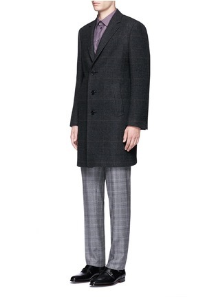 Front View - Click To Enlarge - Canali - Glen plaid wool coat