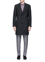 Glen plaid wool coat