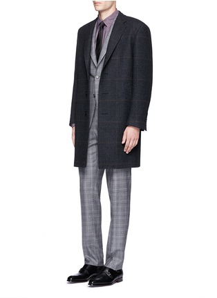 Figure View - Click To Enlarge - Canali - Glen plaid wool coat