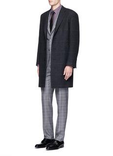 CanaliGlen plaid wool coat