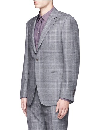 Front View - Click To Enlarge - Canali - 'Contemporary' Glen plaid wool suit