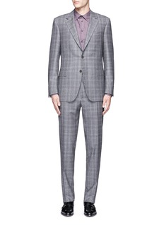 Canali 'Contemporary' Glen plaid wool suit