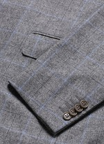 'Capri' windowpane check wool-cashmere blazer