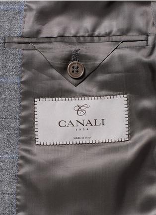 - Canali - 'Capri' windowpane check wool-cashmere blazer