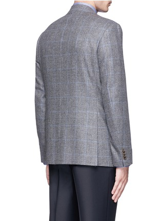 Back View - Click To Enlarge - Canali - 'Capri' windowpane check wool-cashmere blazer