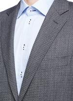 'Travel' chevron stripe wool suit