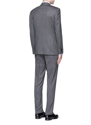 Back View - Click To Enlarge - Canali - 'Travel' chevron stripe wool suit