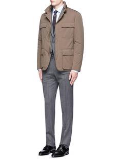 Canali'Travel' chevron stripe wool suit