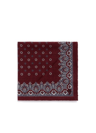 Main View - Click To Enlarge - Canali - Floral cathedral print wool pocket square