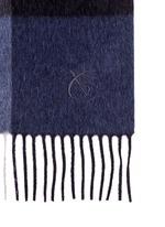 Colourblock wool-angora scarf