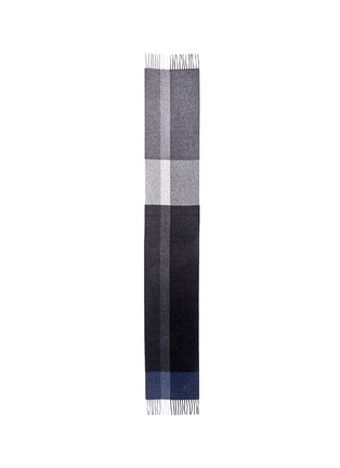 Main View - Click To Enlarge - Canali - Colourblock wool-angora scarf