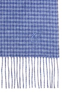 Check plaid double face cashmere-silk scarf