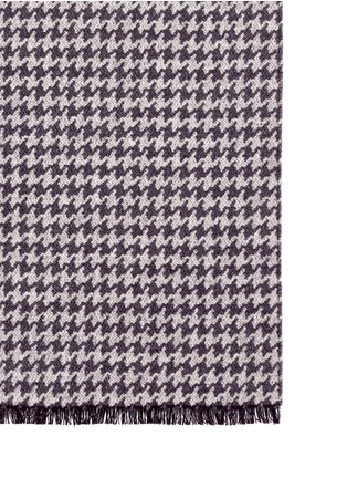 Detail View - Click To Enlarge - Canali - Houndstooth double face cashmere-silk scarf