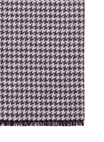 Houndstooth double face cashmere-silk scarf