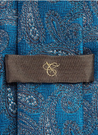Detail View - Click To Enlarge - Canali - Paisley jacquard silk tie