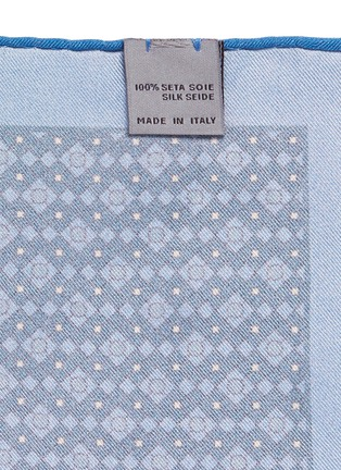 Detail View - Click To Enlarge - Canali - Diamond print silk pocket square