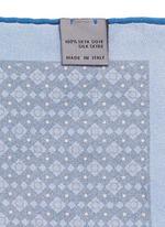 Diamond print silk pocket square