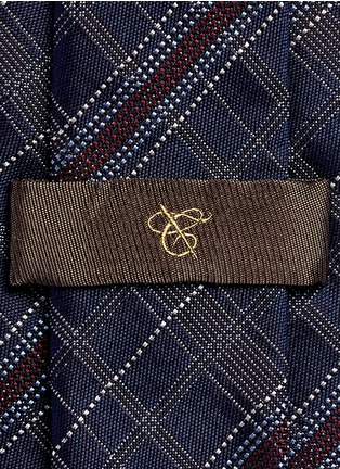 Canali-Check silk tie