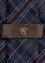 Check silk tie